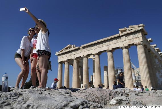 tourists greece