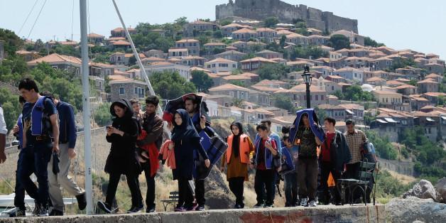 Symbolbild von Flüchtlingen in Griechenland.