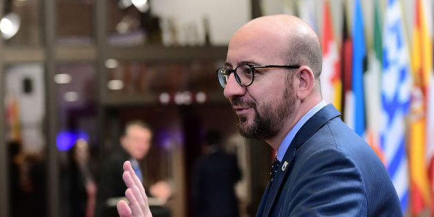 Belgian Prime Minister Charles Michel looks on as he leaves the European Union leaders summit on October 21, 2016 at the European Council, in Brussels. British Prime Minister Theresa May seeks to allay fears of the disruptive impact of Brexit after a wave of criticism as she addresses European Union leaders at her first EU summit. / AFP / EMMANUEL DUNAND        (Photo credit should read EMMANUEL DUNAND/AFP/Getty Images)