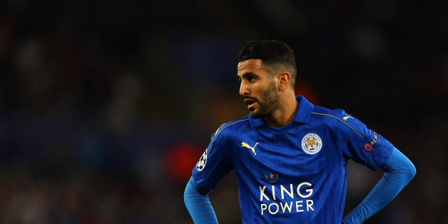 LEICESTER, ENGLAND - SEPTEMBER 27: Riyad Mahrez of Leicester City during the UEFA Champions League match between Leicester City FC and FC Porto at The King Power Stadium on September 27, 2016 in Leicester, England. (Photo by Catherine Ivill - AMA/Getty Images)