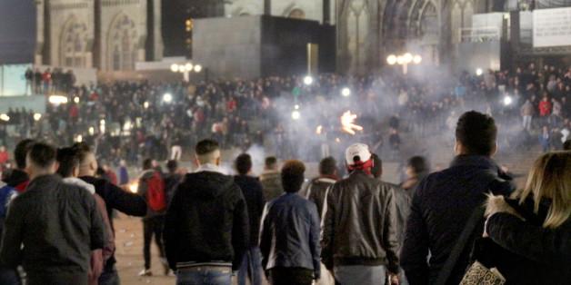 Ein Bild vom Domplatz in der Kölner Silvesternacht