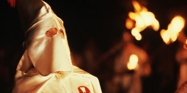 Ein Ku-Klux-Klan-Mitglied in den USA
