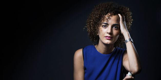 French-Moroccan writer Leila Slimani poses in Paris on September 13, 2016.  / AFP / JOEL SAGET