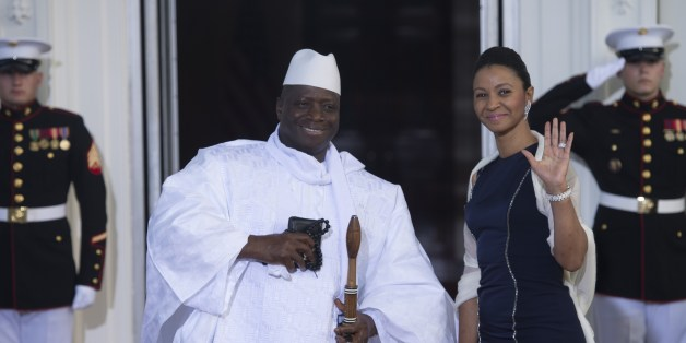Gambian President Yahya Jammeh arrives  at the White House for a group dinner during the US Africa Leaders Summit August 5, 2014 in Washington, DC. AFP PHOTO/Brendan SMIALOWSKI        (Photo credit should read BRENDAN SMIALOWSKI/AFP/Getty Images)