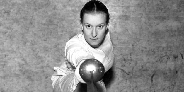 Helene Mayer, world champion in women's fencing, is shown in Feb. 1935.  Mayer, a student at Mills College in Oakland, Ca., is entered in the Men's Open foil championship for the bay division and the qualifying rounds for the Pacific Coast Championship, which start in San Francisco.   (AP Photo)