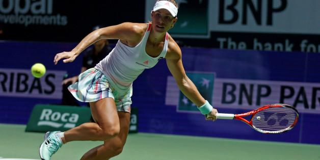 Angelique Kerber steht bereits im WM-Halbfinale - am Donnerstag steht sie aber noch in der Vorrunde gegen Keys