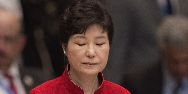 South Korea's President Park Geun-Hye is seated during the opening ceremony of the G-20 Leaders Summit in Hangzhou, China, Sunday, Sept. 4, 2016. (Nicolas Asfouri/Pool Photo via AP)
