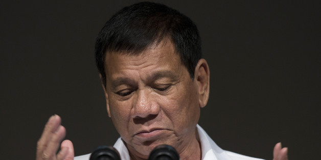 Rodrigo Duterte, the Philippines' president, speaks during the Philippine Economic Forum hosted by the Japan External Trade Organization (JETRO) in Tokyo, Japan, on Wednesday, Oct. 26, 2016. Duterte said he wanted all foreign troops out of the Philippines in two years as he continued his tirades against the U.S. during his three-day visit in Japan, a key American ally. Photographer: Tomohiro Ohsumi/Bloomberg via Getty Images