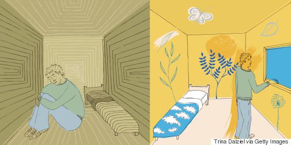 psychiatric hospital illustration