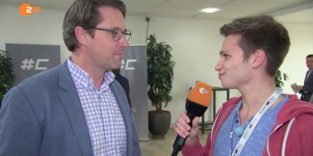 "Andreas Scheuer (CSU) im Interview mit ""Heute Show""-Reporter Fabian Köster"