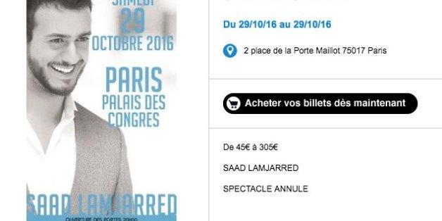 Concert de Saad Lamjarred au Palais des congrès annulé