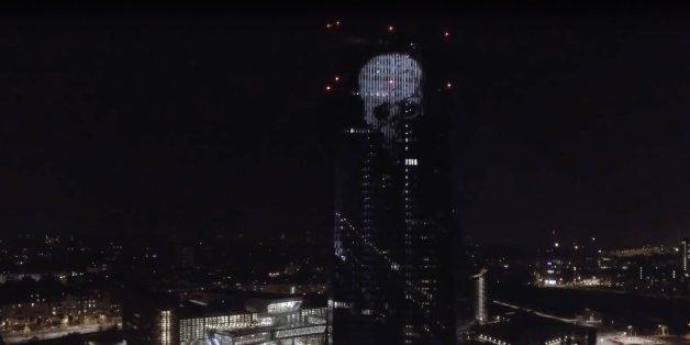 Böhse-Onkelz-Totenkopf erleuchtet EZB-Fassade: Skandal-Rocker düpieren Zentralbank