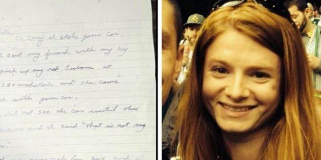 Nachdem einer Frau in den USA das Auto gestohlen wurde, tauchte es mit Bargeld und einem Brief wieder auf.