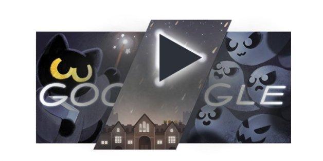 Das ist das Google Doodle zu Halloween