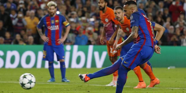 Manchester City gegen FC Barcelona - das Champions-League-Spiel kommt auch im Live-Stream