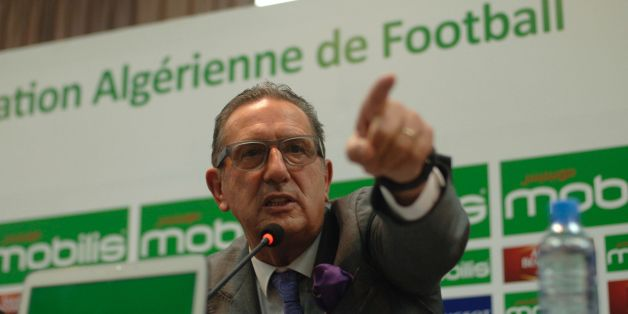 New Algeria coach Georges Leekens speaks during a press conference on November 1, 2016 at the Olympic Complex conference hall in Algiers. The new coach presented the list of Algerian players summoned for the qualifying match of the World Cup 2018 between Nigeria and Algeria, to take place on November 12, 2016 in Russia. / AFP / ryad kramdi        (Photo credit should read RYAD KRAMDI/AFP/Getty Images)