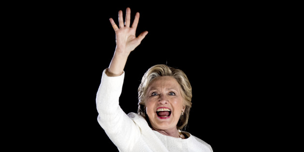 Democratic presidential candidate Hillary Clinton waves after speaking at a rally at Sanford Civic Center in Sanford, Fla., Tuesday, Nov. 1, 2016. (AP Photo/Andrew Harnik)