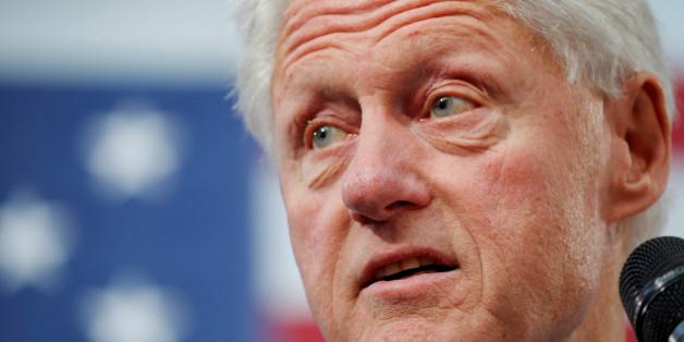 Bill Clinton bei einer Wahlkampfveranstaltung seiner Frau Hillary