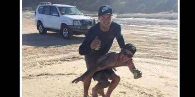 """Entsetzlicher Vorfall: Männer """"surfen"""" auf Schildkröten und prahlen damit"""
