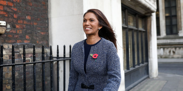 Gina Miller, founding partner of SCM Private LLP, left, reacts as she leaves the High Court in London, U.K., on Thursday, Nov. 3, 2016. The U.K. must hold a vote in Parliament before starting the two-year countdown to Brexit, a panel of London judges decided, setting up a constitutional confrontation at the country's Supreme Court. Photographer: Simon Dawson/Bloomberg via Getty Images