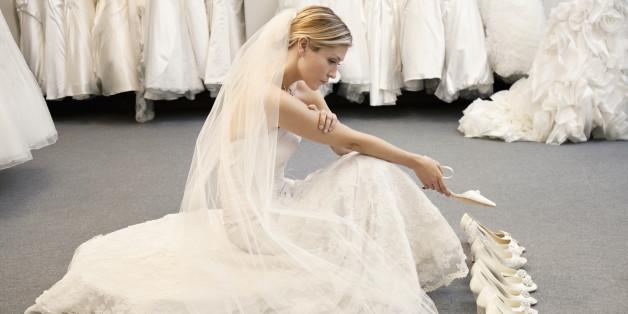 Jede Braut sollte sorgfältig überlegen, welche Absatzhöhe für sie geeignet ist