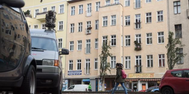 In dem Haus in Berlin Schöneberg wurde der Verdächtige festgenommen.