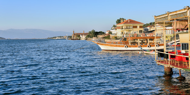 Coastline in Ayvalik, Balikesir,Turkey.