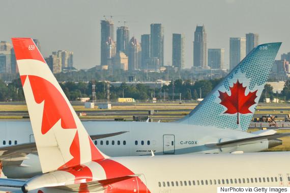 pearson airport planes