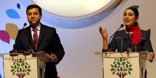 Die Vorsitzenden der pro-kurdischen HDP, Selahattin Demirtas und Figen Yüksekdağ