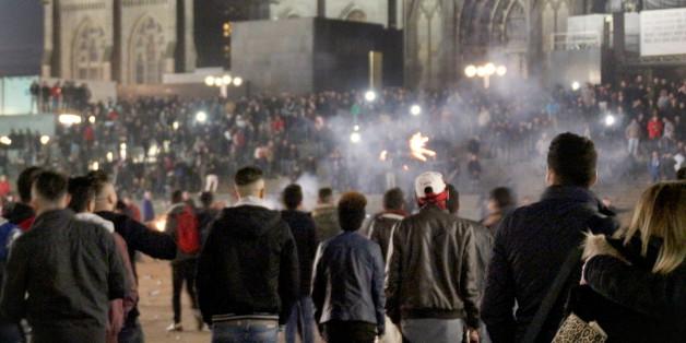 Die Silvesternacht auf der Kölner Domplatte