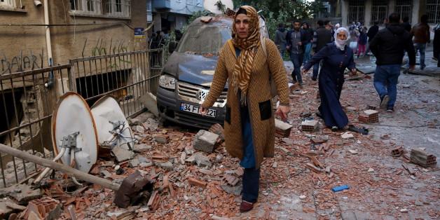 Die Zerstörung nach dem Bombenanschlag
