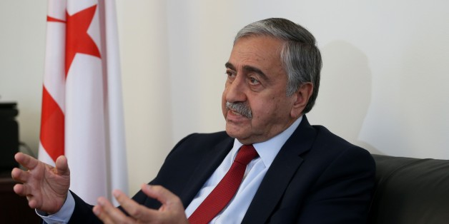 NEW YORK, USA - SEPTEMBER 26: Turkish Republic of Northern Cyprus President Mustafa Akinci speaks during an interview with Anadolu Agency (AA) in Manhattan, New York, United States on September 26, 2016. (Photo by Mohammed Elshamy/Anadolu Agency/Getty Images)