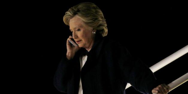 Clinton in Cleveland, Ohio am Freitagabend