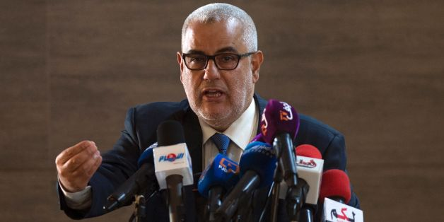 Moroccan Prime Minister and Secretary General of the ruling Islamist Justice and Development Party (PJD), Abdelilah Benkirane, speaks during a conference in Sale on October 22, 2016. / AFP / FADEL SENNA        (Photo credit should read FADEL SENNA/AFP/Getty Images)