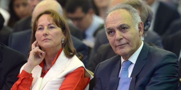 French Energy and Environment Minister, Segolene Royal (L), and Moroccan Foreign Minister Salaheddine Mezouar attend a Global Climate Action Forum meeting on June 23, 2016 in the Moroccan capital Rabat. / AFP / FADEL SENNA        (Photo credit should read FADEL SENNA/AFP/Getty Images)