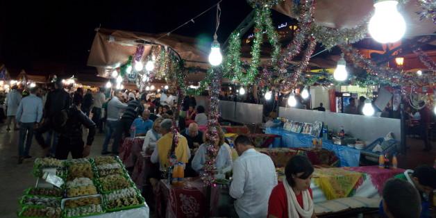 Place Jamaa El Fna, le 6 novembre 2016 à Marrakech