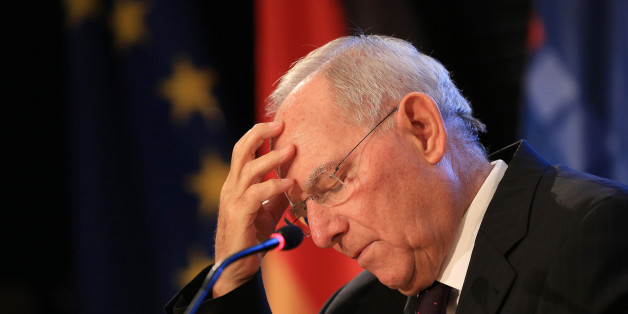 Wolfgang Schaeuble, Germany's finance minister, pauses while delivering a speech at the Konrad Adenauer foundation in Berlin, Germany, on Tuesday, Oct. 18, 2016. The European bailout system has been successful -- in Portugal, Ireland, Spain, Cyprus, and also Greece, Schaeuble said. Photographer: Krisztian Bocsi/Bloomberg via Getty Images