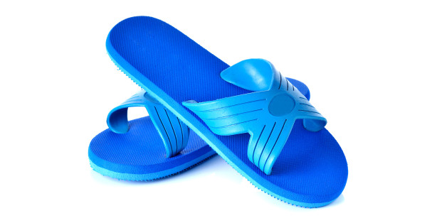 sandals flip flops isolated on white background
