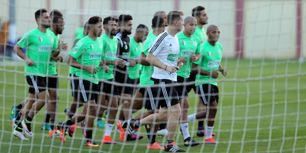 Training session of the Algerian national football team in Sidi Moussa Technical Center In anticipation of the match against Cameroon Qualification Word Cup 2018 in Algiers, Algeria on 4 October 2016 (Photo by Billal Bensalem/NurPhoto via Getty Images)