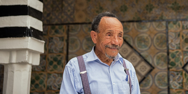 PIerre Rabhi, pioneer of agro-ecology in France, visiting Tunisia in June 2013.