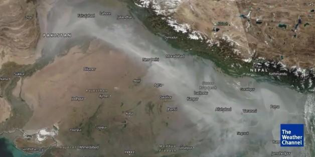 Smog über Indien