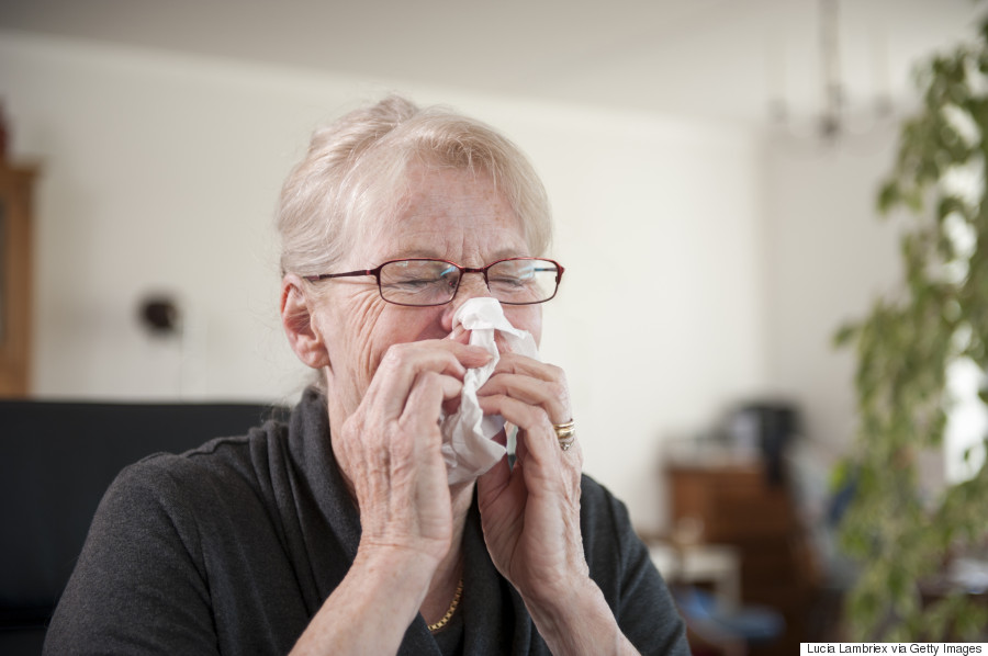 person with flu