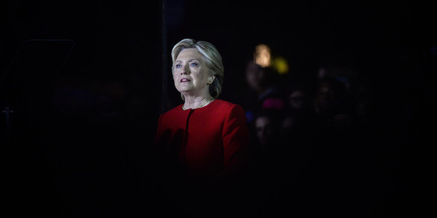 Hillary Clinton, 2016 Democratic presidential nominee, speaks during a campaign event in Philadelphia, Pennsylvania, U.S., on Monday, Nov. 7, 2016. Clinton leads Donald Trump by three percentage points among likely voters nationally, the latest sign that her campaign's painstaking focus on women, Latinos, and blacks could help propel her to the White House. Photographer: Charles Mostoller/Bloomberg via Getty Images