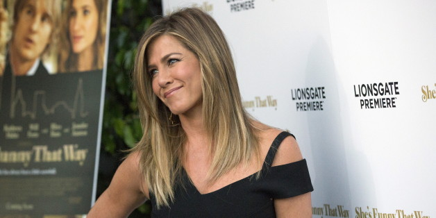 """Cast member Jennifer Aniston poses at the premiere of """"She's Funny That Way"""" in Los Angeles, California August 19, 2015. The movie opens in the U.S. on August 21.  REUTERS/Mario Anzuoni"""