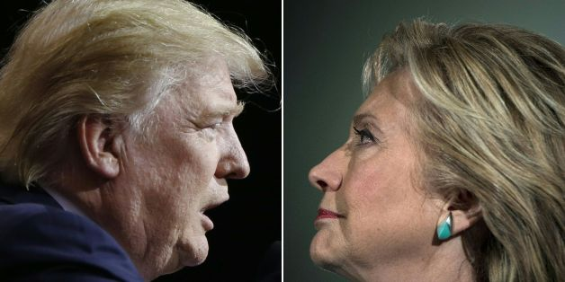 (COMBO) This combination of pictures created on November 07, 2016 shows