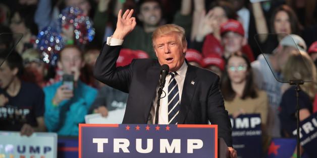 Donald Trump bei einer Wahlkampfveranstaltung