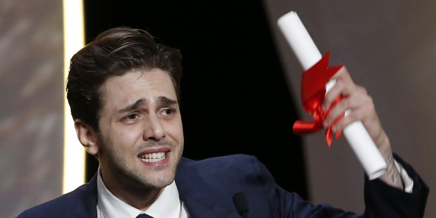 "Director Xavier Dolan, Grand Prix award winner for his film ""Juste la fin du monde"" (It's Only the End of the World), reacts during the closing ceremony of the 69th Cannes Film Festival in Cannes, France, May 22, 2016,        REUTERS/Eric Gaillard TPX IMAGES OF THE DAY"
