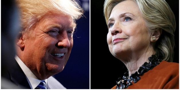 A combination photo shows U.S. Republican presidential nominee Donald Trump (L) at a campaign event in Charlotte, North Carolina, U.S. on October 26, 2016 and U.S. Democratic presidential candidate Hillary Clinton during a campaign rally in Winston-Salem, North Carolina, U.S. on October 27, 2016. To match Insight USA-ELECTION/NORTHCAROLINA   REUTERS/Carlo Allegri (L)/Carlos Barria (R)/File Photos