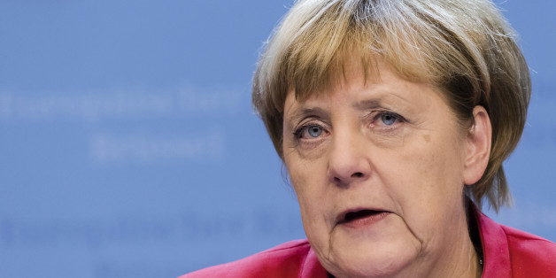 German Chancellor Angela Merkel addresses the media after the first day of an EU summit in Brussels early Friday, Oct. 21, 2016. European Union leaders pledged early Friday to keep all options open to respond to any atrocities committed by President Bashar Assad's regime and his Russian backers in Syria but stopped short of threatening to impose sanctions. (AP Photo/Geert Vanden Wijngaert)