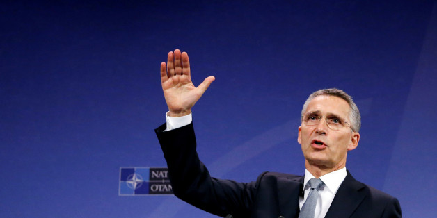 NATO Secretary-General Jens Stoltenberg addresses a news conference during a NATO defence ministers meeting at the Alliance headquarters in Brussels, Belgium, October 27, 2016.   REUTERS/Francois Lenoir